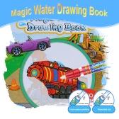 Ungiftige magische Wasser zeichnen Buch Buch Doodle mit magischen Stift Fahrzeug Serie Malerei keine Tinte pädagogisches Spielzeug Färbung
