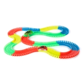 55mm Twisted Tracks Assemblea flessibile Neon Glow in the Darkness Track Macchina da corsa per bambini
