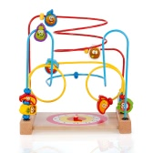 Multipurpose Classic Wooden Beads Game Clock and Vegetable Pattern Activity Cube Educational Wood Toys for Kids