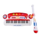 Baoli 37 Tasten Elektronische Tastatur Klavier mit Mikrofon Musikinstrumente Geschenk für Kinder