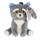 Feisty Pets Mini Unicorn Glenda Glitterpoop Keychains Adorable Plush Stuffed Toy Turns Feisty with a Squeeze