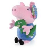 Marca original Peppa Pig 30cm Brother George Stuffed Plush Toy Família Party Doll Christmas New Year Gift for Kids