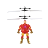 Cool Flying Cartoon Figure based Electric Ball Helicopter Infrared Induction Toy Drone Lamp Children Toys Style 1