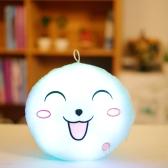 Luminous Soft LED Colorful Sweet Round Smiling Face Stuffed Plush Toy Night light Pillow Cushion Decorative Emoji Pillows White Style 1