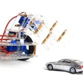 1 set alluminio robot braccio mano modello educativo scientifico morsetto meccanico artiglio montaggio kit fai da te