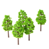20 Pcs 70mm Scale Architectural  Model Trees Railroad Layout Garden Landscape Scenery Miniatures Tree Building Kits Toy for Kids Style 1