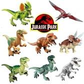 8本のジュラ紀公園恐竜遊戯玩具動物アクションフィギュア(スタイル1)