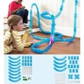 パズルアーリー教育組立鉄道玩具(52PCSチューブ&車)