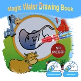 Nietoksyczny Magic Water Drawing Book Kolorowanka Książka Doodle z Magic Pen Painting Zwierząt No Tape Educational Toy