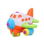 Asamblea de desmontaje de colores plano helicóptero juguete con destornillador Novedad rompecabezas de bloques de construcción para niños juguetes educativos para niños estilo 1