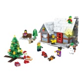 JJR / Cクリスマスシリーズ1001 741pcsギフトセットEducational Building Block Toys