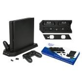 Estación de carga del controlador del soporte de refrigeración vertical multifuncional con 3 puertos USB HUB para el controlador de consola PS4 Slim Pro