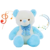50 * 35 * 18cm Colorful LED Flash Light Luminous Bear Soft Plush Doll - Lampada a LED stile 2 LED e riproduzione musicale