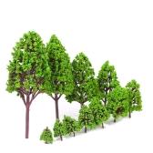 12PCSプラモデルツリー鉄道レイアウトの建築モデルガーデン風景風景のスタイル1