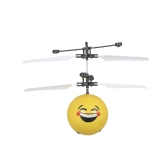 Flying Emoji Electric Ball Colorful LED Lighting Flashing Helicopter Infrared Induction Toy Drone Stage Lamp Children Toys Style 1