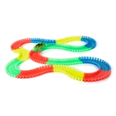 240PCS 55mm Twister Tracks montaje flexible Neon Glow en la oscuridad circuitos de carreras para niños