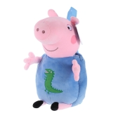 Original Brand Peppa Pig 44cm Brother George Kids Bag Backpack Stuffed Plush Toy Family Party Christmas New Year Gift