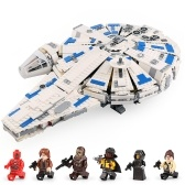 LEPIN 05142 1584pcs Star Wars Series A Star Wars Story Kessel Run Millennium Falcon Building Blocks Kit Set - Plastic Bag Package