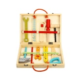 Wooden Cartoon Construction Tools Toy Set For Kids' Manipulative Ability Training