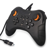 Pro Wired Controller with Male Type-C to USB Adapter for N-Switch