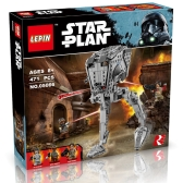 Caja Original LEPIN 05066 471pcs Star Wars AT-ST Walker - Conjunto de Kit de bloques de construcción de Star Wars