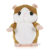 Talking Hamster Repeats What You Say Cute Plush Electronic Mimicry Hamster Interactive Stuffed Toy Gift for Kids Birthday and Party-Yellow