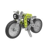120Pcsレトロバイクインテリジェント構築セット3Dステンレス鋼モデルキットDIYギフトモデルビルディング教育おもちゃ