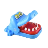 Cute Little Crocodile Usta Dentysta Green Bite Finger Gra Toy Home Family Games Prezenty Gryzienie Funny Toys for Children Kid Adult Blue Yellow Delivery at Random