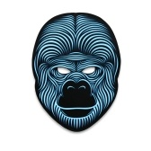 Halloween LED Mask Aktywowana dźwiękiem Świecąca maska