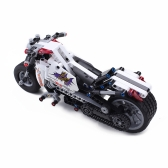 Assembling DIY Blocks Mini 3D Model Series Halley Motorcycle Building Toy ABS Assembly Micro Brick Educational Toys Boys Gifts