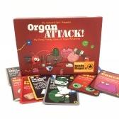 Juegos de mesa de ataque de organos naipes