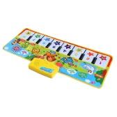 Musical colorato opaco Flash pianoforte musica tappeto coperta Touch giocattolo di apprendimento per il bambino bambini 71 * 28 CM