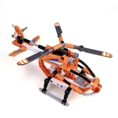 Building Block Helicopter Gunships 168 Pieces Assembling DIY Blocks Toy for Kid Educational Toys Boys Gifts