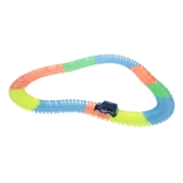 221PCS Twister Tracks 45mm Flexible Assembly Neon Glow in Darkness with Track Race Car for Kids