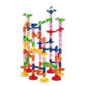 105pcs bambino Educational Building Blocks Toy Set di costruzione pista di marmo Marcia corsa con biglie di vetro per bambini e genitore-figlio