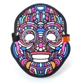 Halloween LED Light Full Face Mask Sound Activated Świecące na Festival Party Halloween Carnivals Dance Ball Masquerades Cosplay Mask
