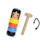 Immortal Daruma Unbreakable Wood Man Stage Magic Props Magic Toy Magic Tricks Comedy Toy Accessory