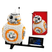 Set di mattoncini LEPIN 05128 1238pcs Star Wars VIII BB-8 Kit Kit - Sacchetto di plastica
