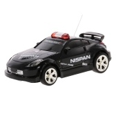 Create Toys 2006D 1/58  Mini RC Car Toy 2CH Remote Control Electric Police Car with Music Light - 4 Types Randomly Delivered