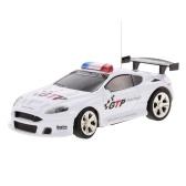 おもちゃを作成する2006 D 1/58ミニRC車のおもちゃ2CHリモートコントロール電気警察車で音楽ライト -  4種類がランダムに配信