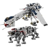 LEPIN 05053 1788pcs Star Wars Series Dropship Repubblica con AT-OT Walker Building Blocks Kit Set