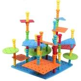 103 szt. Kołki budowlane zestaw kreatywnych konstrukcji inżynierii zabawy edukacyjne zabawki najlepsze zabawki prezent dla dzieci