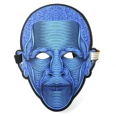 Halloween LED Light Full-face Mask Sound Activated Glowing for Festival Party Halloween Carnivals Dance Ball Masquerades Cosplay Mask
