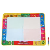 Nietoksyczny Płytka do Malowania Wodnego Malarstwo Zarządu i Pisanie Doodle With Magic Pen dla dzieci w wieku 80 * 60 CM