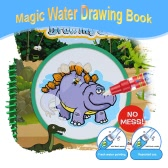 Non-toxic Magic Water Drawing Book Coloring Book Doodle with Magic Pen Dinosaur Series Painting No Ink Educational Toy