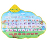 Colorful Russian Alphabet Play Mat Musical Learning Mat Flash Music Carpet Blanket with Animal Sounds Touch Toy for Baby Kids 73 * 49 CM