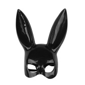 ロングウサギの耳マスクセクシーバニーガールボンデージ仮装