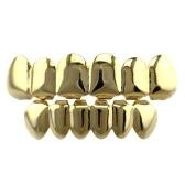 Set grillz placcato in argento dorato per i denti dell