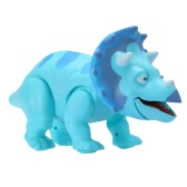 Cute Cartoon Walking Dinosaur Electric Dinosaur Light Up Toy Figure with Sounds & Real Movement & LED Blue