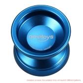 Ametoys V4 Profesional Yoyo mágico de alta velocidad de la aleación de aluminio del yoyo KK Torno CNC del cojinete con la cadena de giro por Niños Niñas Niños Azul